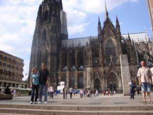 Matt and I in Front of Cologne Cathedral