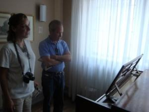 Allen and I Admire Beethoven's Piano