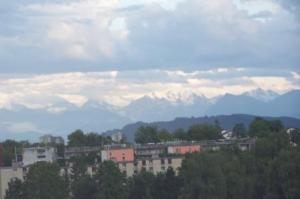 The View of the Alps From Our Hotel Room