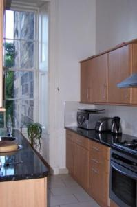 Kitchen of apartment in Glasgow