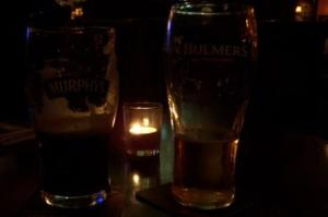 Murphy's and Bulmers at the Pub