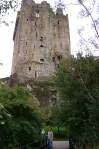 Matt walking towards Blarney Castle