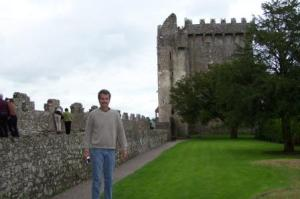 Matt in the Castle's Backyard