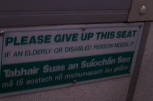 Sign On Bus To Cork