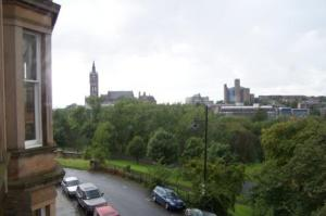 View of Street and Kelvingrove Park From The Apartment Window