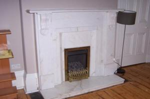 One of Two Fireplaces in Apartment
