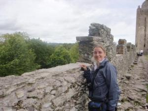 Me at the Castle Wall