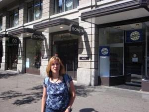 Me In Zurich Across From Rail Station