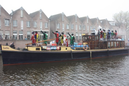 Sinterklaas and his helpers arrive in the Netherlands