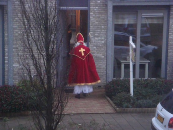 Apparently our neighbors know Sinterklaas personally!