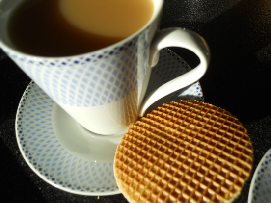 Stroopwafels and tea, our daily ritual for the time in NL!