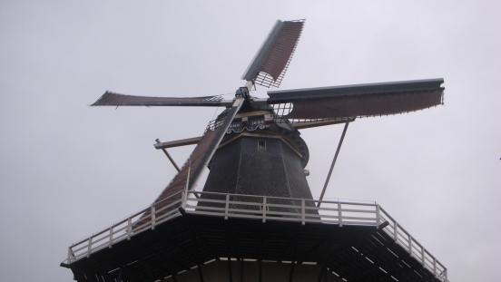 Windmill, circa 1898, Alphen aan den Rijn, Holland