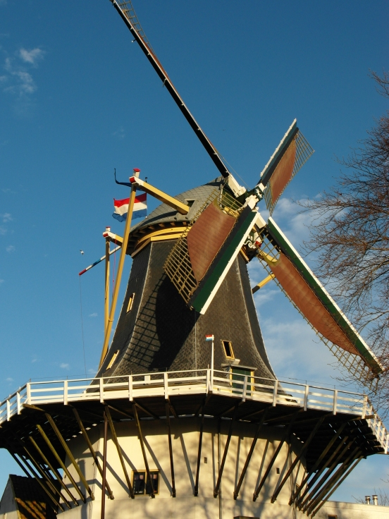 Dutch windmill, Alphen aan den Rijn, Netherlands