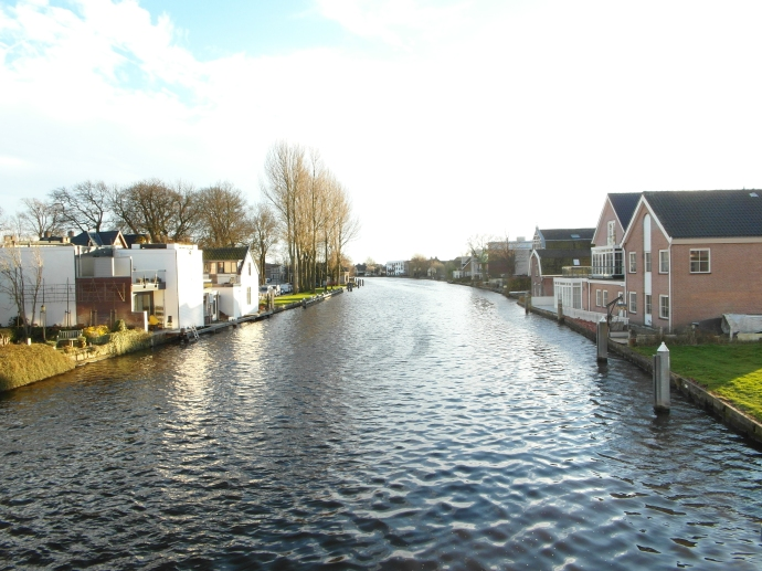 One of the canals going into downtown Alphen