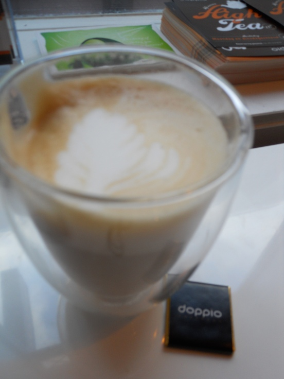 One of the required travel coffee breaks at a place called Doppio, Leiden