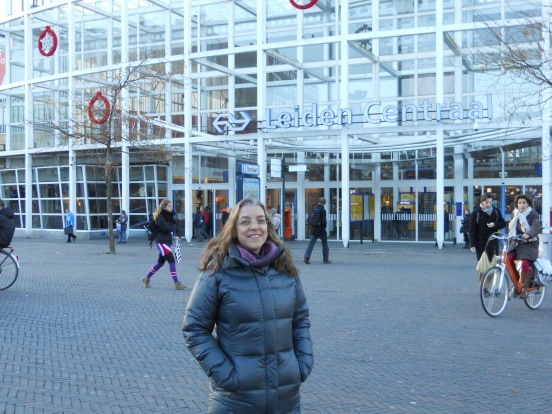 Me in front of Leiden Centraal
