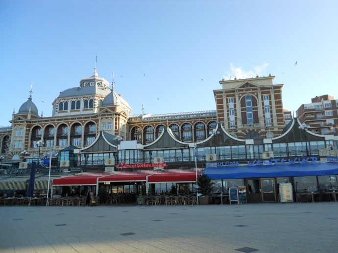 Steigenberger Kurhaus Hotel from Strandweg next to the beach, Scheveningen Beach