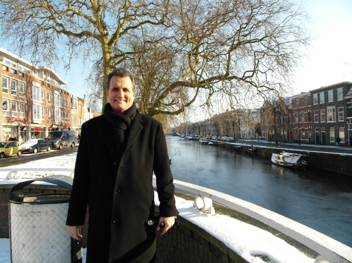 Matt looking dapper and no cold at all, Haarlem, Netherlands