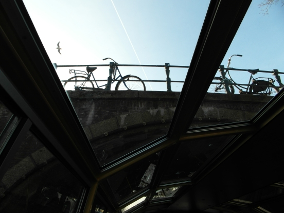 Canals, bicycles, and seagulls...it must be Amsterdam!