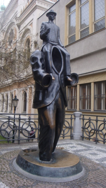 Memorial to Franz Kafka in the Jewish Quarter, Prague